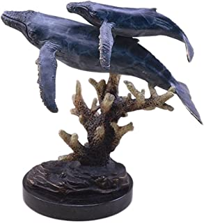San Pacific International 11H in. Humpback Whales Statue