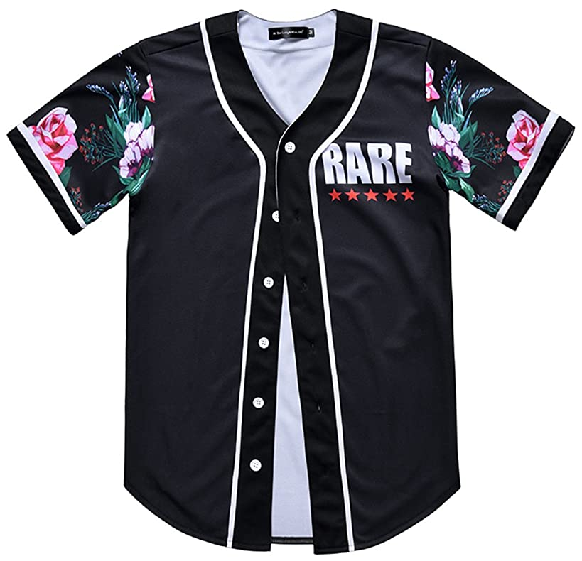 HOP FASHION Unisex Baseball Jersey Short Sleeve Print Shirts