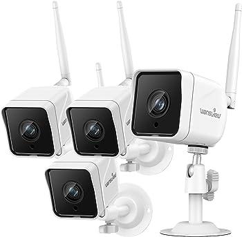 4-Pack Wansview 1080p Wireless Waterproof Surveillance Home Cameras