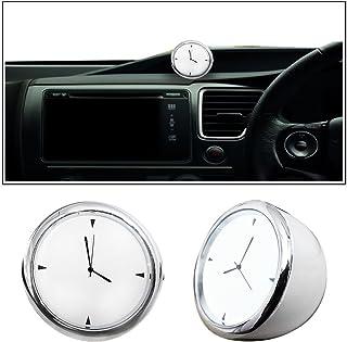 Ezip Small Size White Dashboard Clock Watch Car Watch