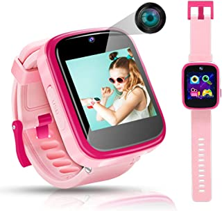 Kids Smart Watch Children Smartwatches for 4-10 Year Old Girls Toddler HD Dual Camera Multi-Function Touchscreen Smartwatch with Game Educational Toys USB Charging Best Christmas Birthday Gifts