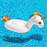 Flotador Hinchable unicornio para piscina–Flotador Anillo Juego hinchable