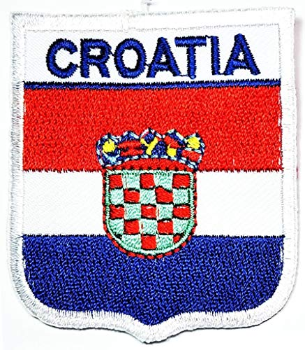 PP Patch Kroatien Flagge Patch Weste Jacke Biker Patch Nationalflagge Neuheit Iron on Sign Badge Kostüm Uniform Emblem