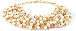 Zaveri Pearls Gold Tone Multistrand Pearls Bracelet For Women-ZPFK10456