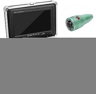 Cámara de pesca submarina de 7 pulgadas, cámara de sonda de monitor de pesca con cámara a color Ccd HD 1000tvl, monitor su...