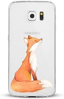 Galaxy S 7 Edge Case clear, Galaxy S7 Edge Case Silm,Cute Animal Design Shockproof Slim Sweatproof Anti -Scratch Soft Silicone Protective Case Cover for Samsung Galaxy S7 Edge (fox)