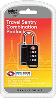 Safe & Sound Tsa Resettable Combination Padklock Luggage Lock, 17 cm, Black