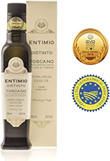 Entimio Distinto | Medium Olive Oil Extra Virgin IGP Toscano | 2018 Harvest Italian Olive Oil from Italy, Tuscany, 2019 Gold Award | First Cold Pressed, Rich in Antioxidants | 8.5 fl oz