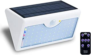 Solar Lights Outdoor, 5 Optional Modes, 60 LED Wireless Motion Sensor Lights, IP65 Waterproof, Solar Powered Rechargeable, Security Lights for Garden, Patio, Deck, Garage, Driveway (White Light)