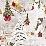 Hans-Textil-Shop Stoff Meterware Winter Snowman Baumwolle -