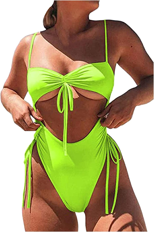 Smooto Women Push Up Bandage Padded One-Piece Bathing Suit Bikini Set Swimsuit