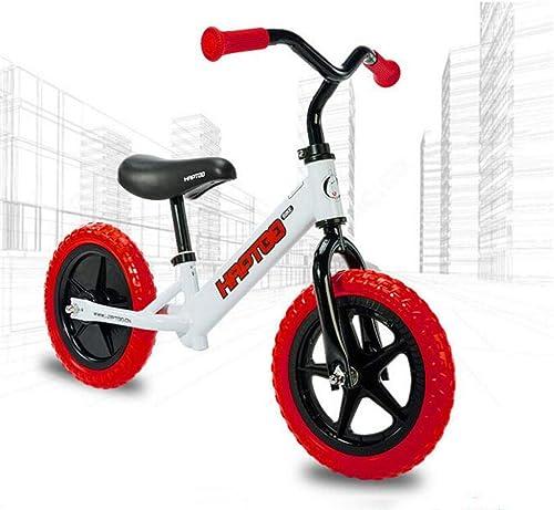Kinderwaage 12 Zoll 2-8 Jahre altes Baby ohne Pedal ZWeißd-füroller yo Auto,rot