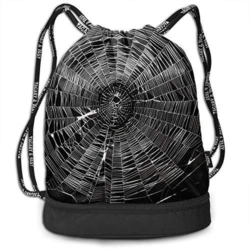 Valender Athletic Gym Sack Bag Spinnennetz Kordelzug Rucksack Sporttasche Schulreiserucksack