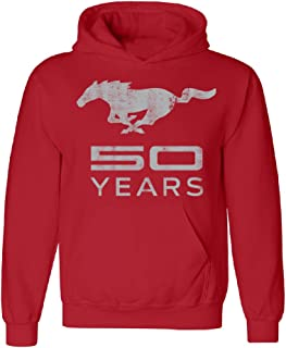 Mustang 50 Years Licensed Product Unisex Hoodie Horse Official Ford Sweater