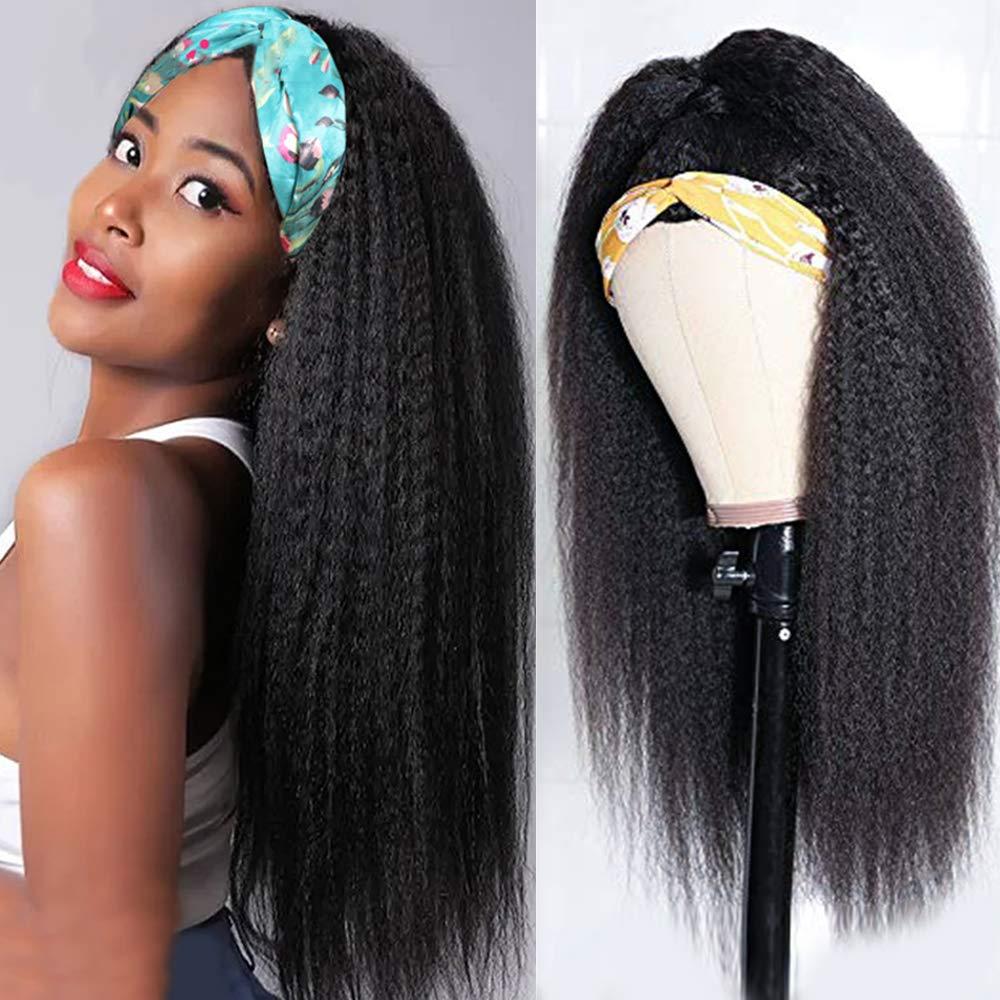 Washington Mall Muokass Kinky Straight Headband Wigs Yaki None Lace Hair Human In a popularity F
