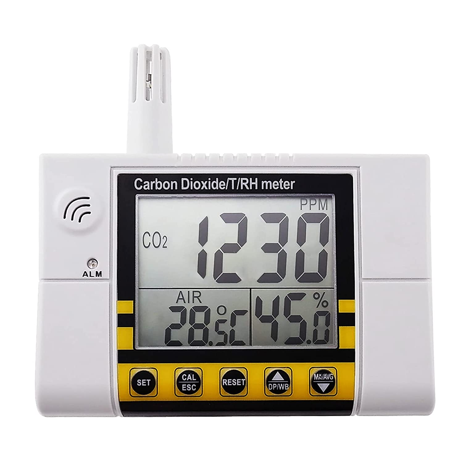 CO2 Monitor Air 70% OFF Outlet Quality for Humidity Temp Dioxide Tulsa Mall Carbon