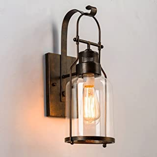 Vintage Wall Sconce, MKLOT Ecopower Industrial Country Style 5.90