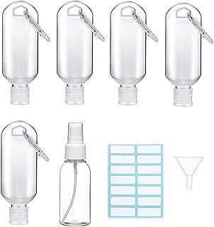 50ml Bottiglia da Viaggio Vuota per Gel Igienizzante Mani, 50 ml Contenitori Riutilizzabili per Sapone Liquido, Disinfetta...