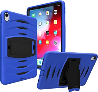 iPad Pro 11 Inch 2018 Case, DODOL Three Layer Heavy Duty Hybrid Rugged Hybrid Shockproof Impact Resistant Armor Defender Full Body Protective Carrying Case Built with Kickstand for iPad Pro 11