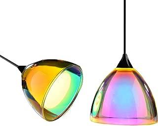 OBSESS 5W COB LED Mini Pendant Light with Color Plating Glass Shade and Aluminium Trim,Polished Chrome(Kitchen/Bar Pendant Light )