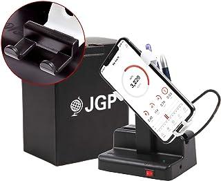 (JGP) 楽天ランキング3冠 自動で歩数を稼ぐ スマホスインガー 日本語説明書 ON/OFFスイッチ LINEサポート 付き 磁石不使用 左右スイング アジャスター 付き JGP-002 (ホワイト)