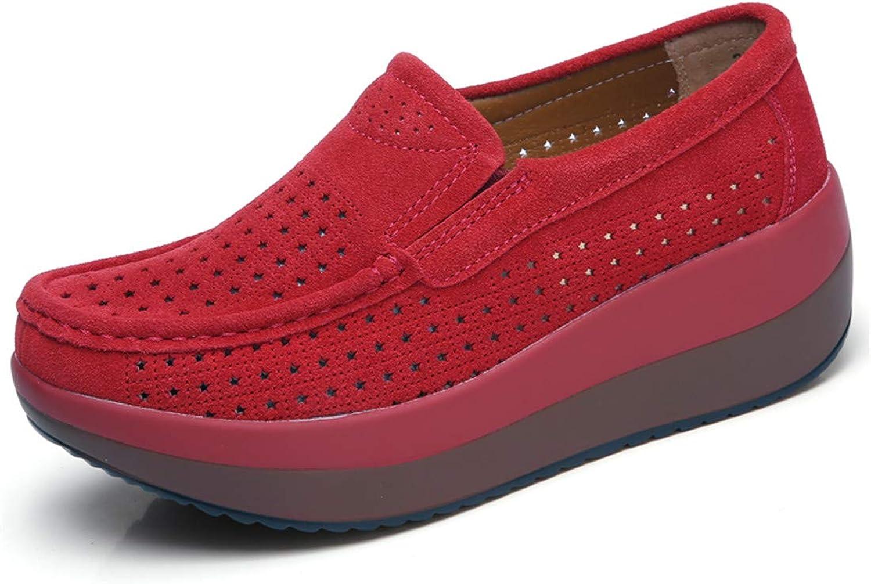 Sam Look 2019 Spring Women Flats shoes Platform Slip On Flat Moccasins Loafers 4 M US