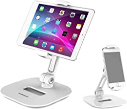 Homeleader Stylish Aluminum Tablet Stand, iPad Stand, 360° Rotating Commercial Tablet Holder fits 4-11