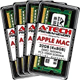 A-Tech 32GB (4x8GB) PC3-12800 DDR3 1600MHz RAM for Apple iMac (Late 2012, Late 2013, Late 2014 Retina 5K, Mid 2015 Retina 5K) | 204-Pin SODIMM Memory Upgrade Kit
