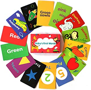 shumee Paper 40 Double Sided Flashcards (1 Years+) - Learn Colours, Shapes, Animals, Fruits, Vegetables, Transport & More,...
