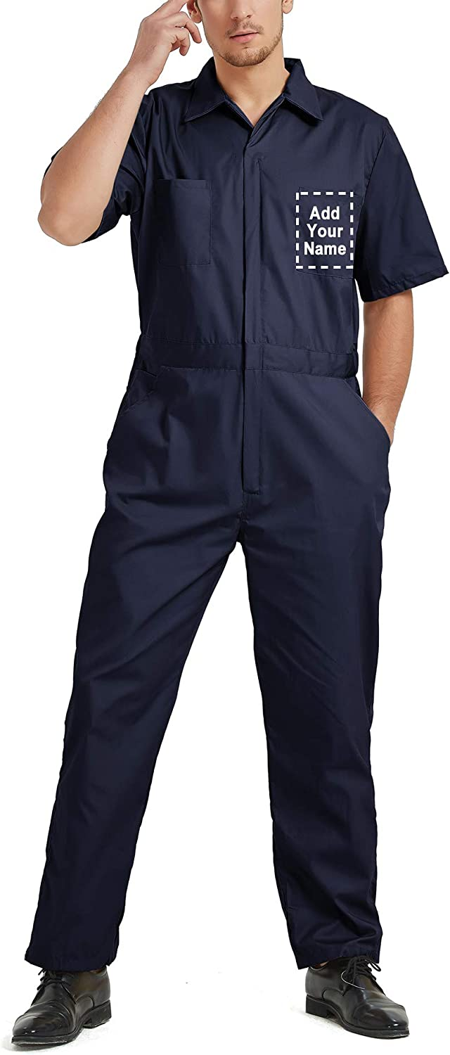 TOPTIE Personalized Short Sale Special Max 85% OFF Price Sleeve Coverall for Co Men Customized