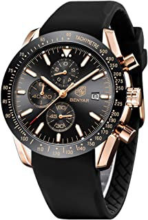 BENYAR Chronograph Mens Watch Quartz Movement 30M Waterproof