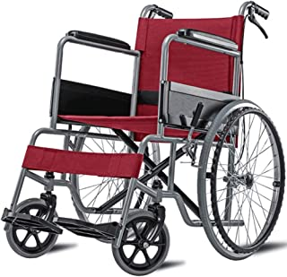 Wheelchair,Manual Wheelchair Portable Folding Lightweight Old Aluminum Alloy Wheelchair Disabled Scooter Care Car Swing Away Footrests hgfjghfdgfd SZWHO