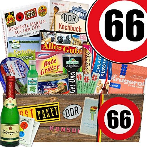 DDR Geschenkbox XXL / Zahl 66 / Geschenkideen Mama / Spezialitäten Box