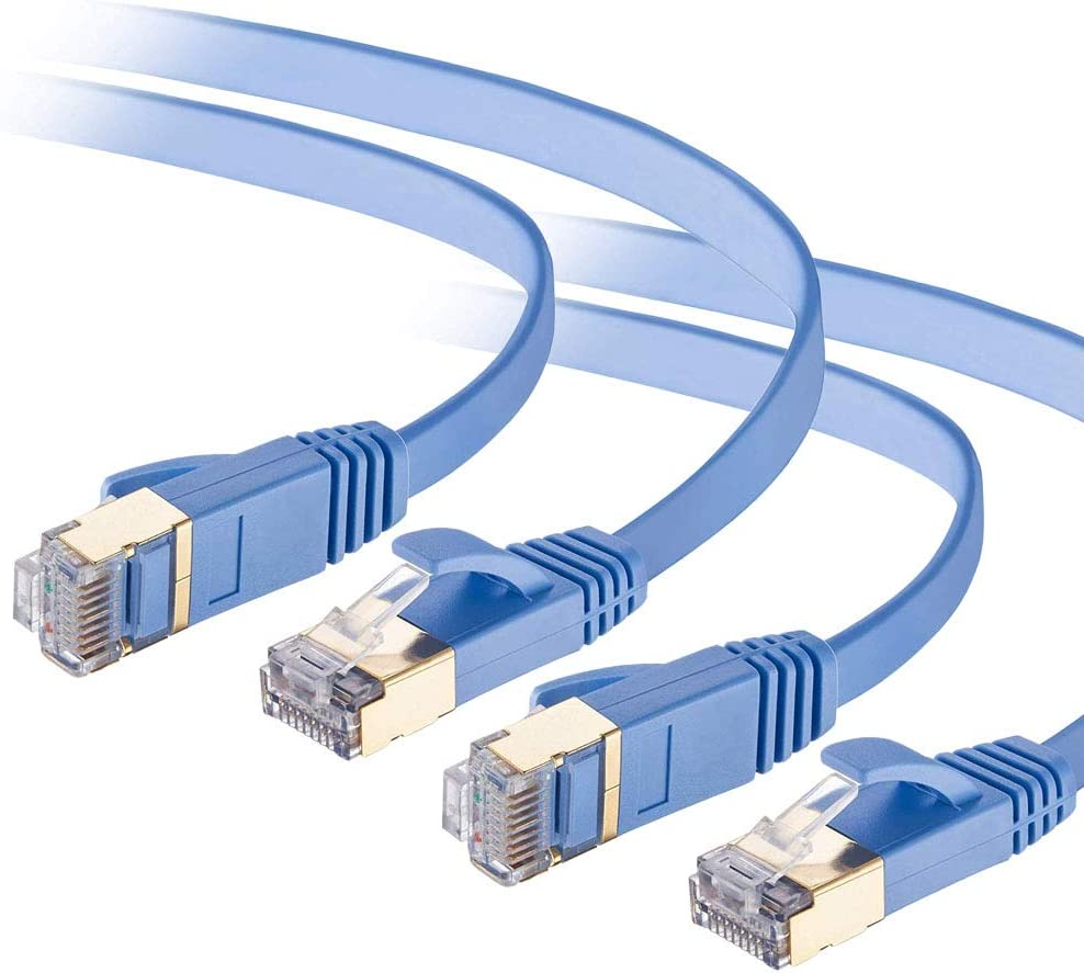 Cat Free shipping on posting cheap reviews 7 Ethernet Cable 6ft Flat 2 Pack High Cat7 Gigabit Speed 10