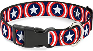 Cat Collar Breakaway Captain America Shield Repeat Navy 6 to 9