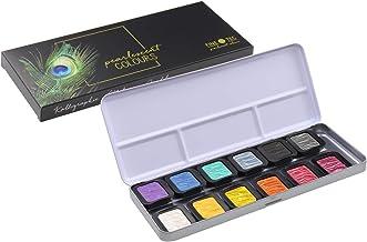 Finetec F1200 12 Opaque Pearlescent Paints, Diameter 30 mm, in Metal Case