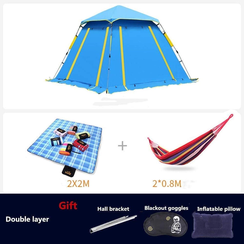 HWL Instant Portable Outdoor-Zelt, Regenschutz mit Fenster - für Camping & Strand - einfache Einrichtung, faltbar mit Tragetasche - leicht und robust