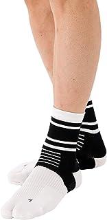 Runtage(ランテージ) アスリートサポートソックス 足袋タイプ ミドル丈 男女兼用 日本製 スポーツソックス テーピング 滑り止め 足裏クッション