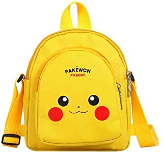 Pikachu Bag, Pikachu Crossbody Bags for Girls with 2 Zipper Pockets, Pikachu Shoulder Bags for Girl with Adjustable Strap, Pikachu Pokemon Gifts for Girls, Yellow Pikachu Pokemon Backpack.
