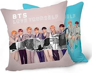"Skisneostype Nuevo álbum de BTS 《Love Yourself ""Answer》 BTS Bangtan Boys Pillowcase Sofa Throw Pillow Cushion Case 16X16 Inch Perfect for Home/Car/Office/School Decor Great Gift(H09)"