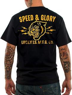 Lucky 13 Men's Panther Head T-Shirt Black