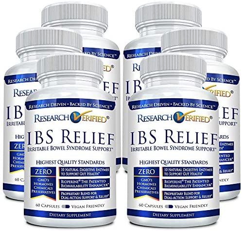 Research Verified IBS Relief Fast Safe Effective Relief from Irritable Bowel Syndrome With Bioperine product image