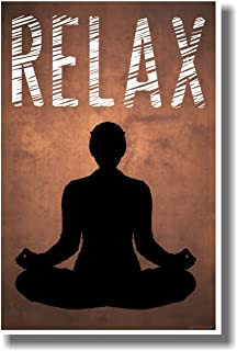 Relax (Orange) - NEW Stress Reduction Motivational Poster