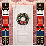 MAIAGO Nutcracker Christmas Decorations - Nutcracker Banners - Life Size Soldier Model Nutcracker Porch Signs - Xmas Decor Banners for Indoor & Outdoor, Home, Wall, Front, Door, Apartment Party