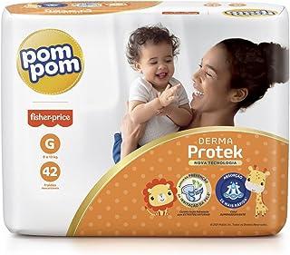 Fralda Pom Pom Derma Protek Mega G 42Un, Pom Pom, Laranja, Grande