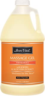 Bon Vital' Original Massage Gel for a Versatile Massage Foundation to Relax Sore Muscles & Repair Dry Skin, For Massage Th...