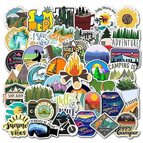 Impermeabile Outdoor Wild Summer Travel Stickers Trolley Skateboard Valigia Adesivo Avventura Fresca Campeggio Fai da Te Graffiti50Pcs