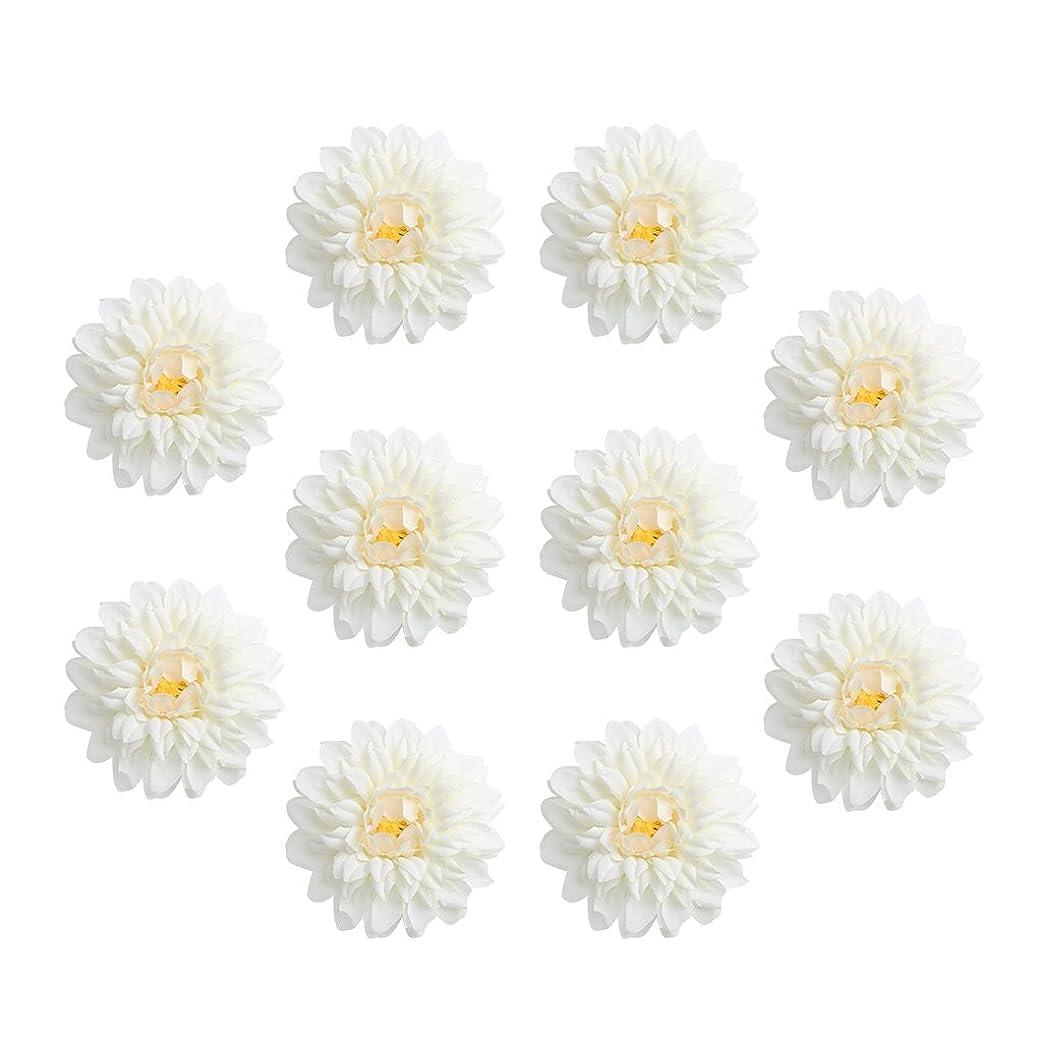 セント大脳オッズFenteer 10個入り 造花 フラワー お花 菊 フラワーヘッド 人工菊 結婚式 ホーム DIY 工芸品 装飾 6タイプ選べる - クリーム