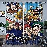 Cortinas opacas de aislamiento térmico avanzadas My Hero Academia X Kanda Matsuri Anime Cortinas aislantes en dormitorios y comedores, 137 x 183 cm