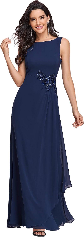 Ever-Pretty Womens Sleeveless A Line Sequined Chiffon Formal Dress 0259